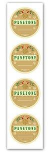 Etiqueta Adesiva Panetone Cod. 5592 c/ 20 un. Miss Embalagens Rizzo Confeitaria