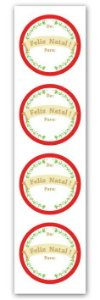 Etiqueta Adesiva Natal De /Para Cod. 5578 c/ 20 un. Miss Embalagens Rizzo Confeitaria