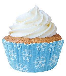Forminha Mini CupCake Flocos de Neve com 45 un. Cod. 6825 Mago Rizzo Confeitaria