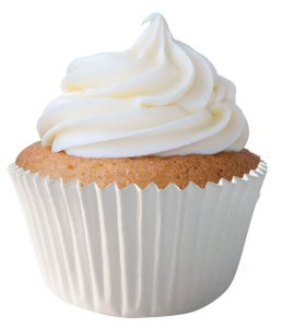 Forminha CupCake Branca com 100 un. Cod. 3127 Mago Rizzo Confeitaria