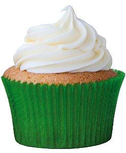 Forminha CupCake Verde Bandeira com 45 un. Cod. 6557 Mago Rizzo Confeitaria