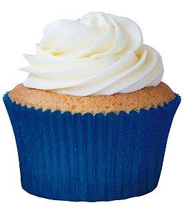 Forminha CupCake Azul com 45 un. Cod. 6556 Mago Rizzo Confeitaria