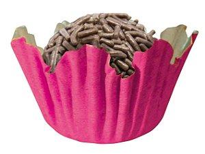 Forminha de Papel N° 4 Recortada Pink com 100 un. Cod. 3222 Mago Rizzo Confeitaria