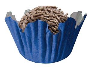 Forminha de Papel N° 4 Recortada Azul Royal com 100 un. Cod. 3121 Mago Rizzo Confeitaria