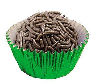 Forminha de Papel N° 5 Verde Metalizada com 50 un. Cod. 3204 Mago Rizzo Confeitaria