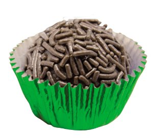 Forminha de Papel N° 6 Verde Metalizada com 50 un. Cod. 3194 Mago Rizzo Confeitaria