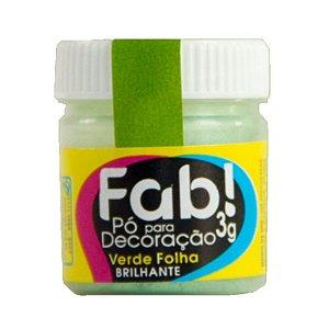 Pó para decoração verde folha 3g Fab Rizzo Confeitaria
