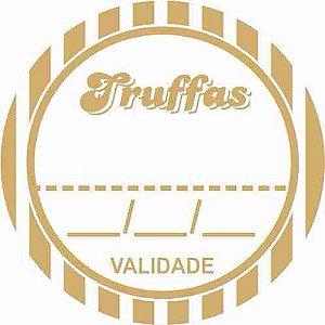 Etiqueta AdesivaTruffas Cod. 092  c/ 50 un. Massai Rizzo Confeitaria