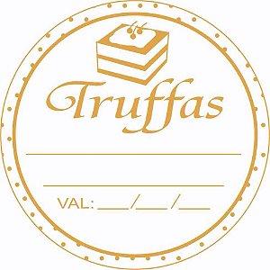 Etiqueta Adesiva Truffas Cod. 093 c/ 50 un. Massai Rizzo Confeitaria