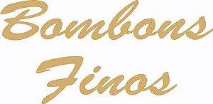 - Etiqueta Adesiva Bombons Finos Cod. 96 c/ 100 un. Massai Rizzo Confeitaria