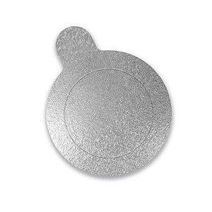 Base Redonda Prata 8 cm com 20 un. Ultrafest Rizzo Confeitaria