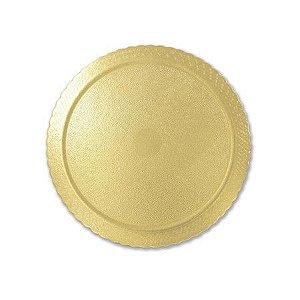 Base para Bolo Cake Board Redondo Ouro 32 cm Ultrafest Rizzo Confeitaria