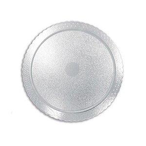 Base para Bolo Cake Board Redondo Prata 35 cm Ultrafest Rizzo Confeitaria