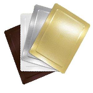 Base para Bolo Cake Board Retangular Branco 40 X 30 cm Ultrafest Rizzo Confeitaria