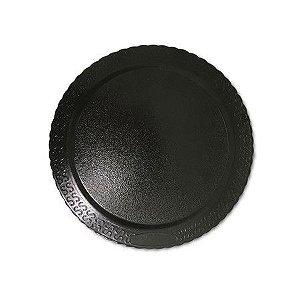 Base para Bolo Cake Board Redondo Preto 26 cm Ultrafest Rizzo Confeitaria