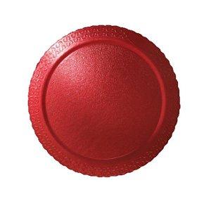 Base para Bolo Cake Board Redondo Vermelho 28 cm Ultrafest Rizzo Confeitaria