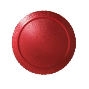 Base para Bolo Cake Board Redondo Vermelho 35 cm Ultrafest Rizzo Confeitaria