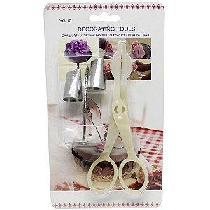 Kit de Ferramentas para Confeitar Flores ArtLille Rizzo Confeitaria