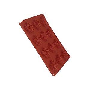 Forma de Silicone Pequena Coroa ArtLille Rizzo Confeitaria