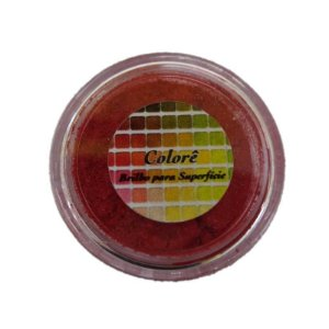 Pó para decoração, Brilho para Superfície Colorê Red Hot P 2g LullyCandy Rizzo Confeitaria
