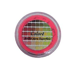 Pó para decoração, Brilho para superficie Colorê Pink Alaranjado Flúor 2g LullyCandy Rizzo Confeitaria