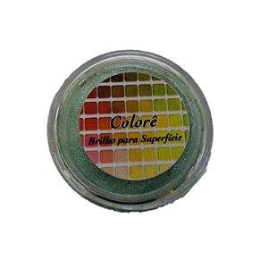 Pó para decoração, Brilho para superficie Colorê Topázio 2g LullyCandy Rizzo Confeitaria