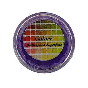 Pó para decoração, Brilho para Superfície Colorê Violet Flúor 2g LullyCandy Rizzo Confeitaria