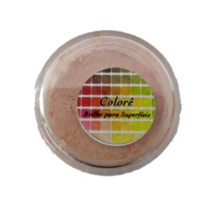 Pó para decoração, Brilho para superficie Colorê Salmon2 2g LullyCandy Rizzo Confeitaria