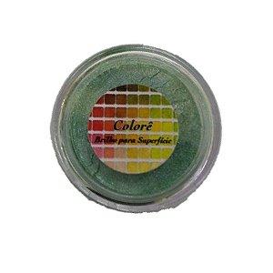 Pó para decoração, Brilho para superficie Colorê Verde 2g LullyCandy Rizzo Confeitaria