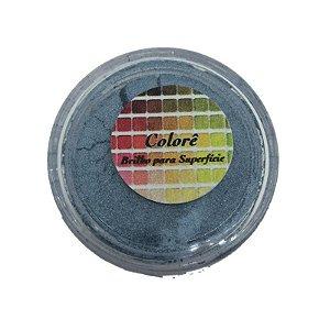 Pó para decoração, Brilho para superficie Colorê Cobalto 2g LullyCandy Rizzo Confeitaria