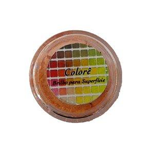 Pó para decoração, Brilho para superficie Colorê Orange 1,9g LullyCandy Rizzo Confeitaria