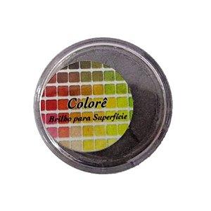 Pó para decoração, Brilho para superficie Colorê Moka 2g LullyCandy Rizzo Confeitaria