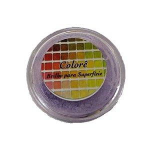 Pó para decoração, Brilho para superficie Colorê Lavanda2 2g LullyCandy Rizzo Confeitaria