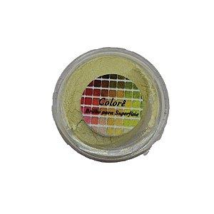 Pó para decoração, Brilho para superficie Colorê Açafrão 2g LullyCandy Rizzo Confeitaria