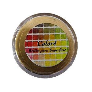 Pó para decoração, Brilho para superficie Colorê Ouro Velho Metalizado 2g LullyCandy Rizzo Confeitaria