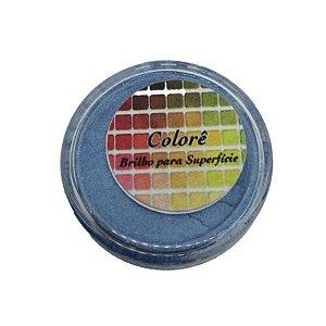 Pó para decoração, Brilho para superficie Colorê Oceano 1,9g LullyCandy Rizzo Confeitaria