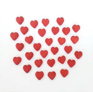 Confeitos comestíveis Coração Vermelho Pequeno Ref. 37 Jeni Joni Rizzo Confeitaria