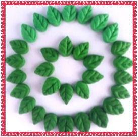 Confeitos comestíveis Mini Folhas  Ref. 82MI Jeni Joni Rizzo Confeitaria