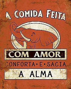 Placa Decor Home Placa Rótulo Extrato com Amor DHPM-220 Litoarte Rizzo Confeitaria