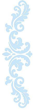 Stencil Arabesco SC3-006 Litoarte Rizzo Confeitaria