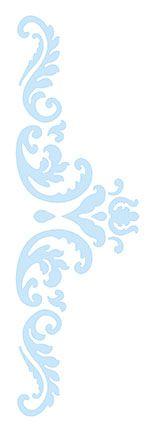 Stencil Arabesco SC4-006 Litoarte Rizzo Confeitaria