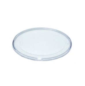 Base Oval Transparente P 5X8 Blue Star Rizzo Confeitaria