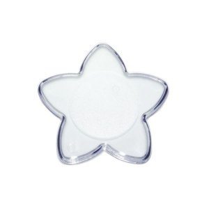 Base Estrela Transparente P 7X7 Blue Star Rizzo Confeitaria