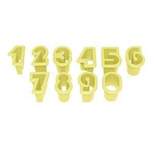 Kit Cortador de Números Médio 3,5 cm com 10 peças Blue Star Rizzo Confeitaria