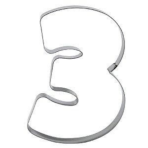 Cortador Numeral 3 Ref. 353 RR Cortadores Rizzo Confeitaria