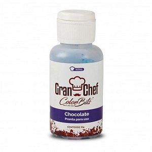 Corante Color Bits Chocolate azul 50g GranChef Rizzo Confeitaria