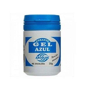 Corante Gel Azul 30 g Arcolor Rizzo Confeitaria
