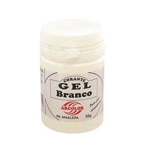 Corante Gel Branco 30 g Arcolor Rizzo Confeitaria