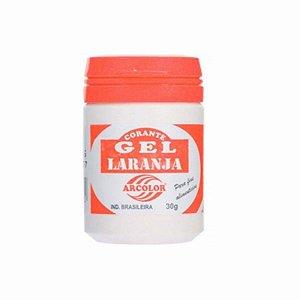 Corante Gel Laranja 30 g Arcolor Rizzo Confeitaria