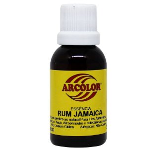 Essência Rum Jamaica 30 ml Arcolor Rizzo Confeitaria